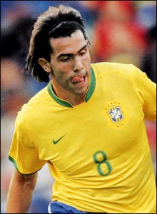 Carlos Tevez in Brazilie shirt