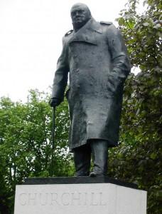 winston churchill standbeeld in london