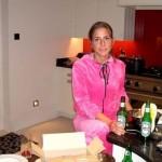 Yulia met een biertje