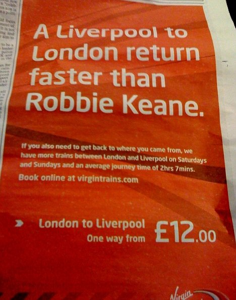 liverpool robbie keane reclame