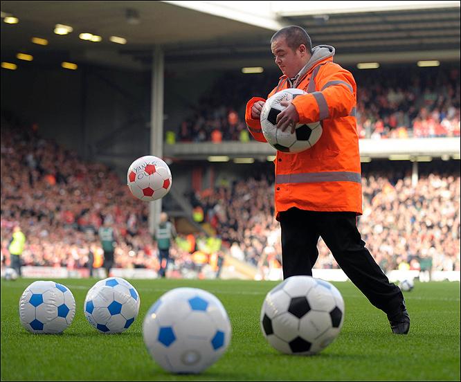 ballonnen bij Liverpool
