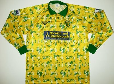 Norwich City 1992 thuisshirt