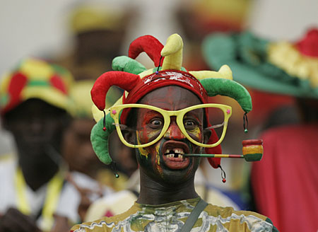 Supporter tijdens Africa Cup