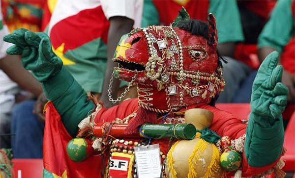 Burkina Faso supporter tijdens Africa Cup