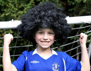 Fan met Fellaini pruik