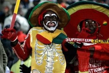 Fan van Ghana tijdens Africa Cup