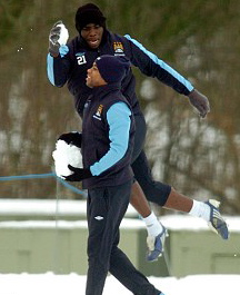 Robinho en Micah Richards