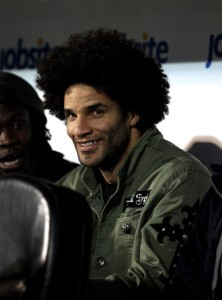 David James, Portsmouth, met Afro kapsel