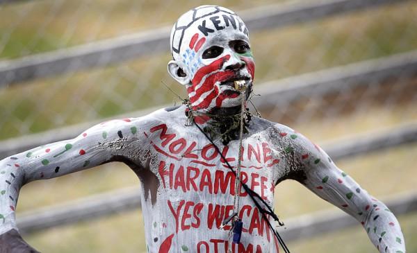 Voetbalfan uit Kenia