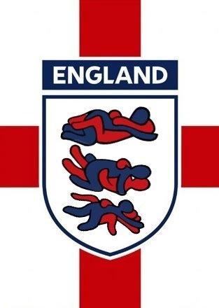 Het logo van Engeland voor WK