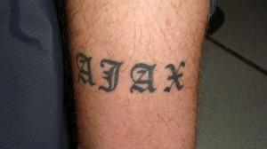 Ajax tatoeage Andy van der Meyde