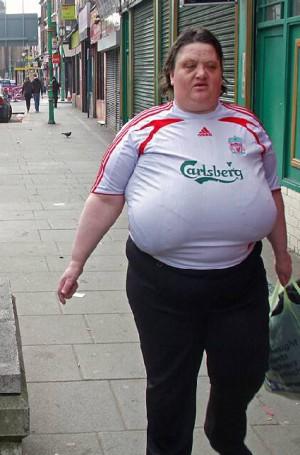 Ugly female soccer fan