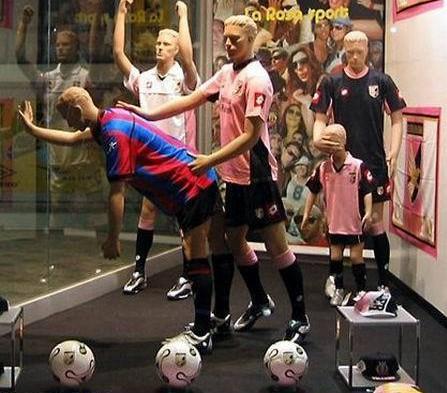 Etalagepoppen voetbal