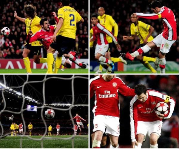 De blessure en penalty van Fabregas