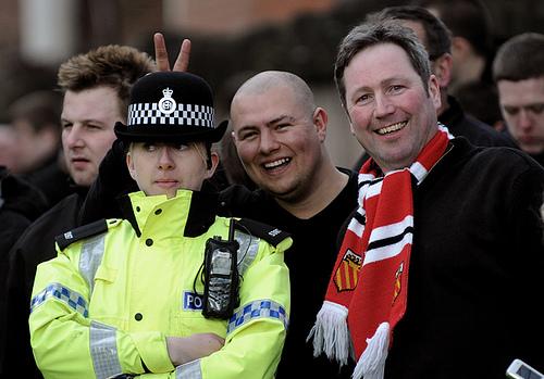 Lachen met de politie