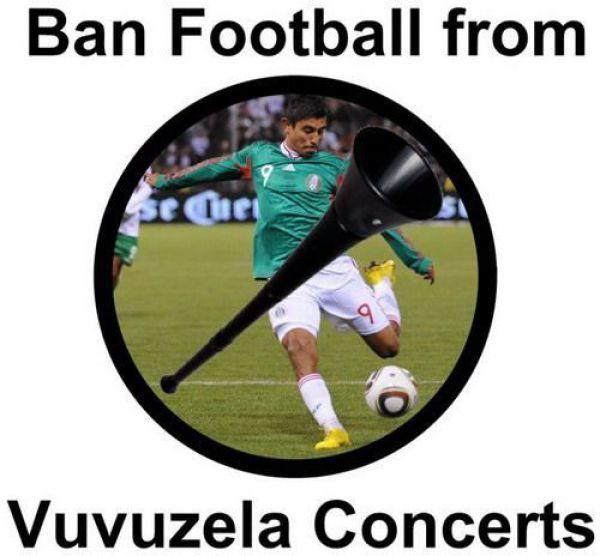 Voetbal vuvuzela