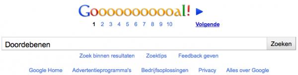 Doordebenen Google