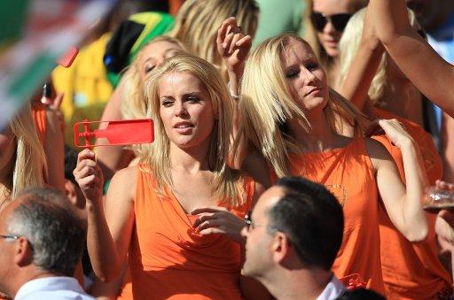 Vrouwelijke Holland supporters