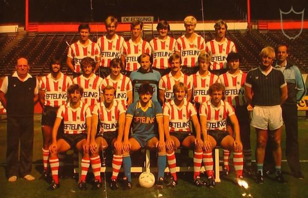 Sparta teamfoto 1983/1984