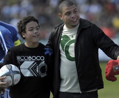 Dikke Ronaldo en zoon