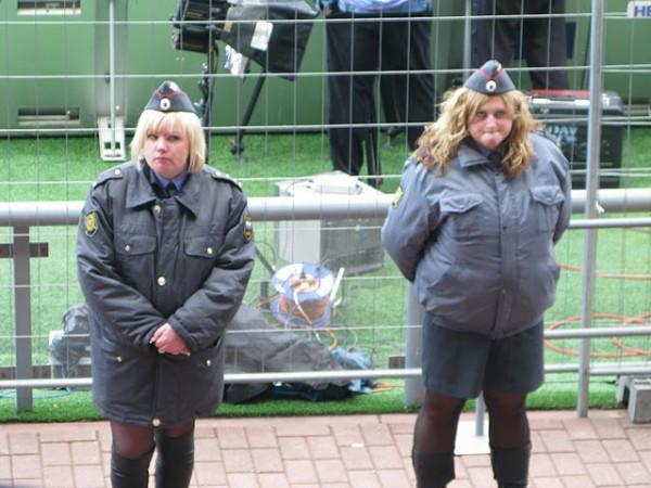 Oekraiense politieagentes