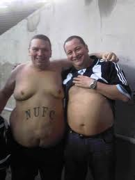 Dikke Newcastle supporter