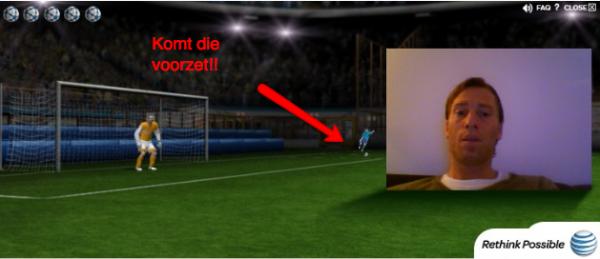 Interactieve voetbalbanner
