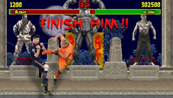 Nigel de Jong is Streetfighter