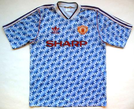 Manchester United uit shirt 1991