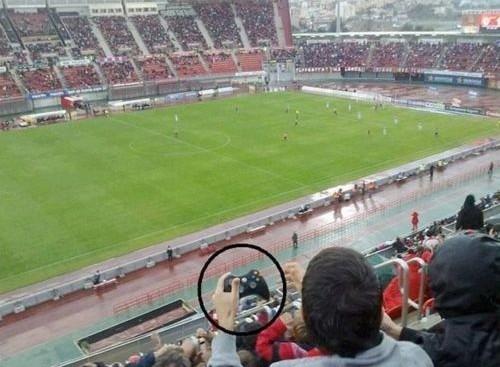 Playstation in het stadion