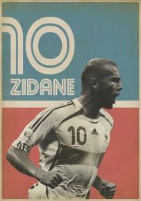 Zidane voetbalposter