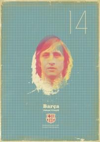 Cruyff voetbalposter