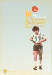 Maradona voetbalposter