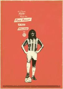 Ruud Gullit voetbalposter