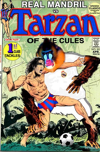 Carles Puyol als Tarzan