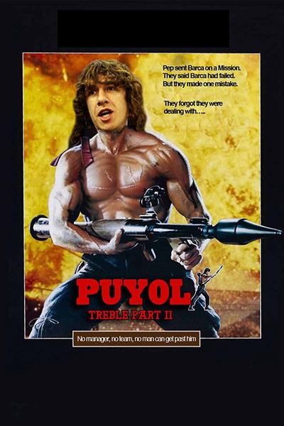 Carles Puyol als Rambo
