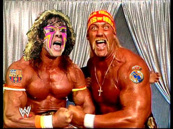 Carles Puyol met Hulk Hogan