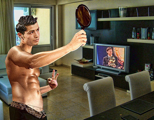 Ijdele Cristiano Ronaldo