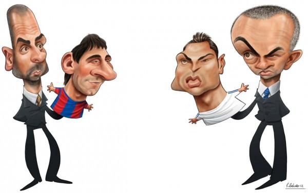 Barca en Madrid Karikaturen