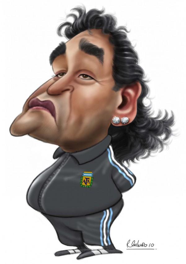 Maradona karikatuur