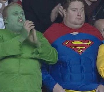 De fans van de Spurs zijn helden, superhelden