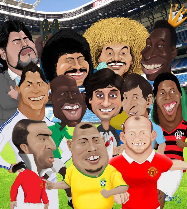 voetbal karikaturen