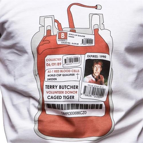 Copa shirt van bebloede Terry Butcher