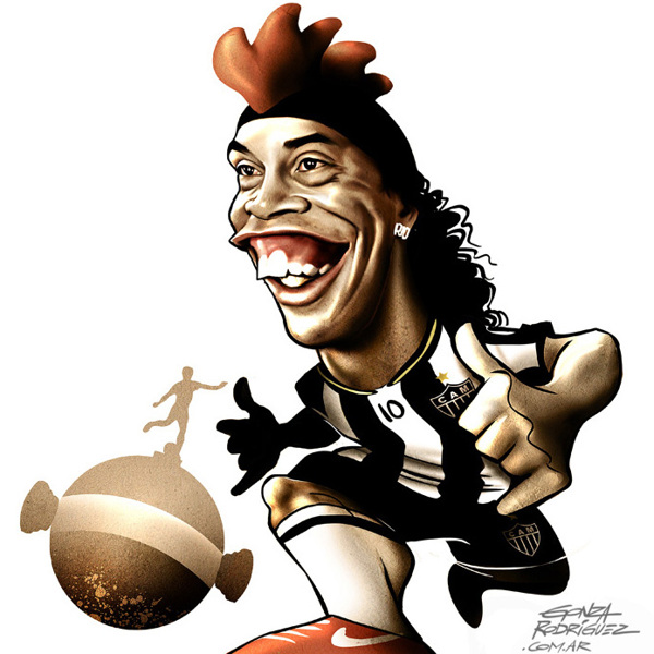 Ronaldinho karikatuur