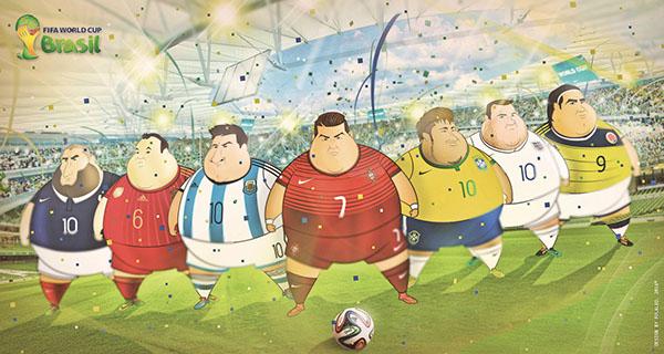 Dikke voetballers