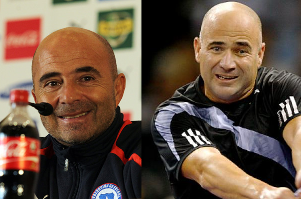 Sampaoli Agassi lookalike